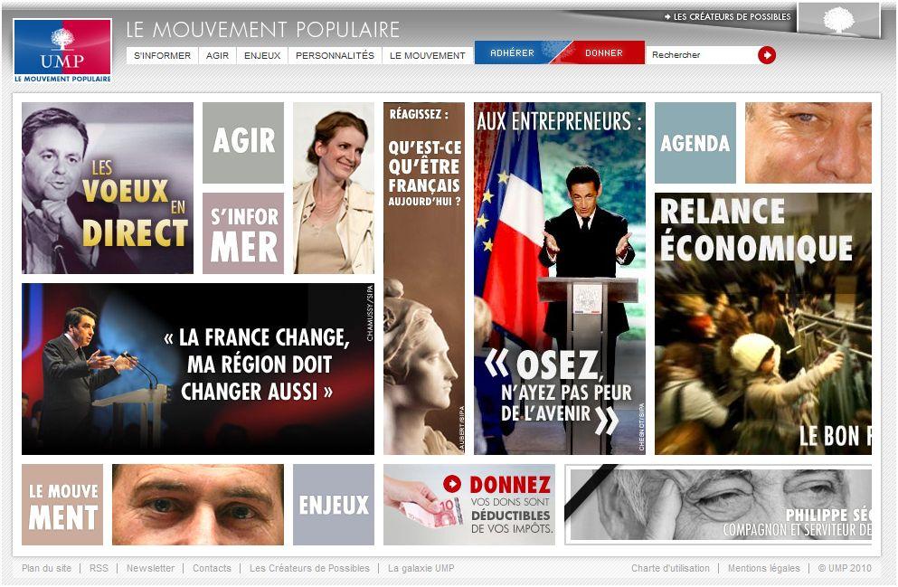 Découvrez le nouveau site web de l'UMP : www.lemouvementpopulaire.fr