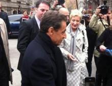 Nicolas Sarkozy en visite à Strasbourg