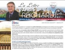 Lettre d'information sénatoriale d'André REICHARDT, N°1