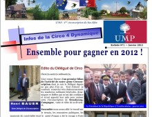 Journal de l'UMP de la 4ème Circonscription, N°1 – janvier 2012