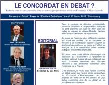 «Le Concordat en débat ?» – Synthèse de la rencontre de Strasbourg organisée par Fabienne KELLER, Sénatrice en présence des Ministres J.LEONETTI et P.RICHERT