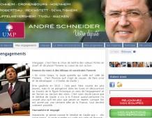 Ouverture du site de campagne d'André SCHNEIDER