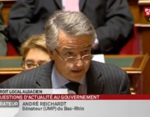 Corporations en Alsace-Moselle : Question d'André REICHARDT au Gouvernement