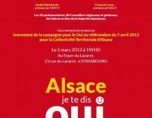 Grande réunion publique de lancement de campagne : « Strasbourg dit OUI ! » le mardi 5 mars à 19H30