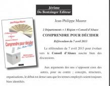 COMPRENDRE POUR DÉCIDER : Jean-Philippe MAURER donne des mots clés pour le référendum