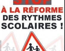Rythmes scolaires : demandons le report de la réforme !