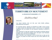 Territoire en Mouvement N°3, la lettre d'info de l'UMP de la Circo 6