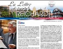 La Lettre d'information sénatoriale d'André REICHARDT, N°6 – avril 2014