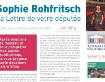 La Lettre de Sophie ROHFRITSCH – juin 2014