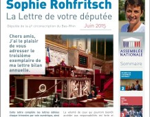 La Lettre de Sophie ROHFRITSCH – juin 2015