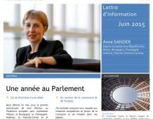 Lettre d'information d'Anne SANDER, député européen – Juin 2015