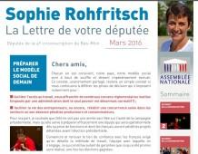 La Lettre d'information parlementaire de Sophie ROHFRITSCH – mars 2016