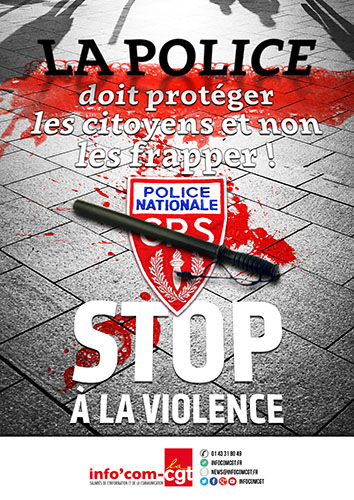 Affiche CGT Police