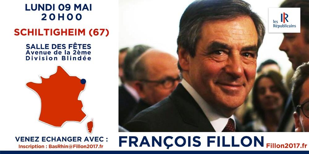 Invitation François FILLON à SCHILTIGHEIM 09-05-16