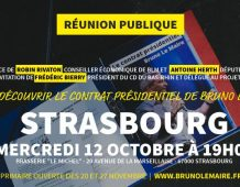 Présentation du Contrat présidentiel de BLM – Mercredi 12 octobre à 19H – Strasbourg
