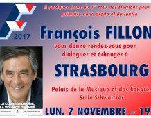 Meeting régional de François FILLON à STRASBOURG – Lundi 7 novembre 2016 à 19H