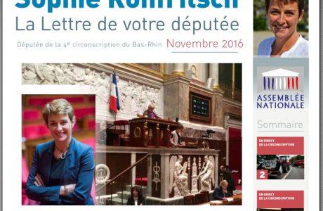 La Lettre d'information parlementaire de Sophie ROHFRITSCH – novembre 2016